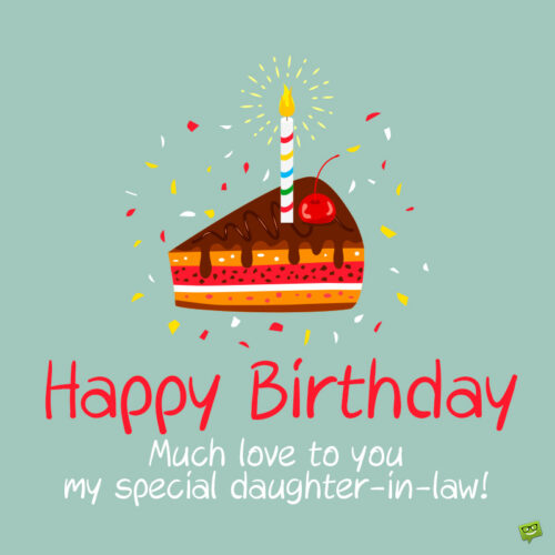 Birthday wish for daughter in law.