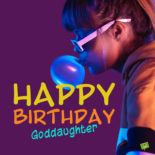 Birthday image for goddaughter.