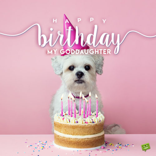 Cute birthday image for goddaughter.