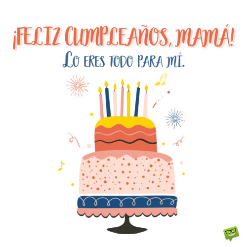 Happy Birthday for your mom in Spanish.