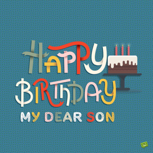 Happy Birthday image for son.