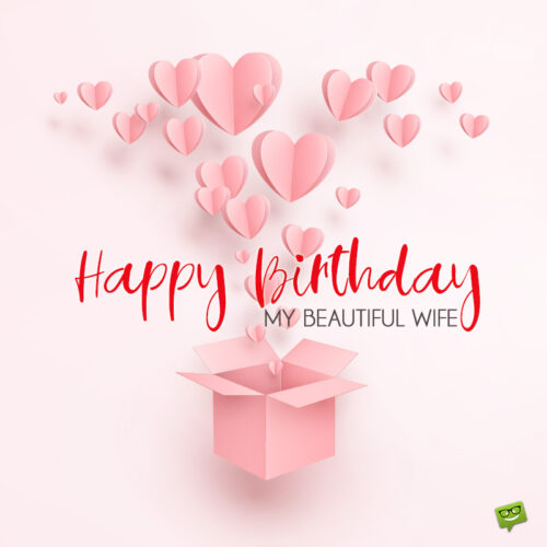 Birthday image for beautiful wife.
