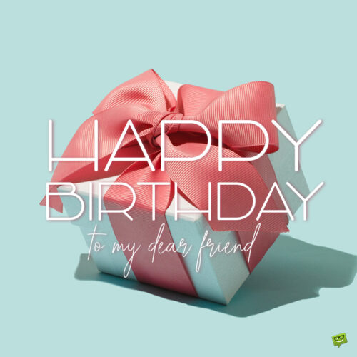 Birthday message on image with gift box.