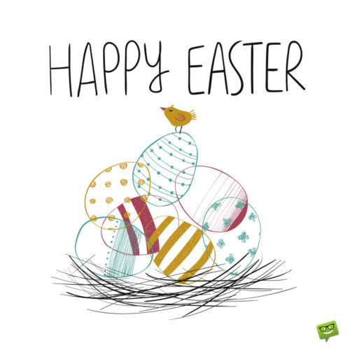 Happy Easter image to share on messages and emails.