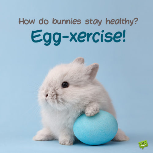 Funny Easter quote for sharing.
