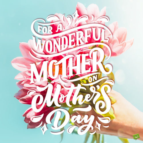 Happy mother's day message on image with beautiful flowers.