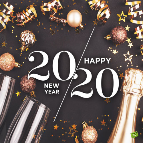 New Year image to help you wish to friends and family.
