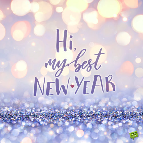 New Year image with stardust and positive message.