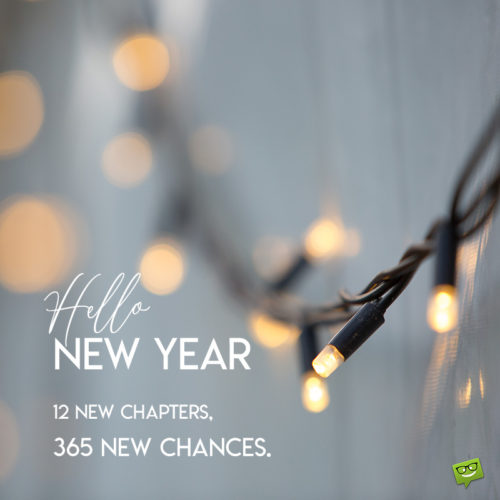 New Year image with inspirational message for chats and status updates.