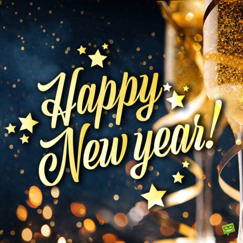 Happy New Year image for chats, posts and status updates.