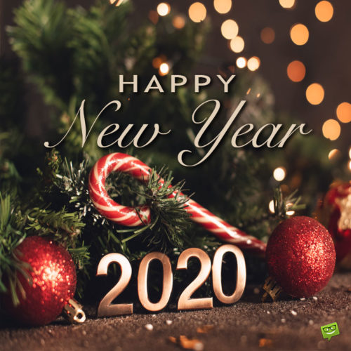 Happy New Year image for 2020.
