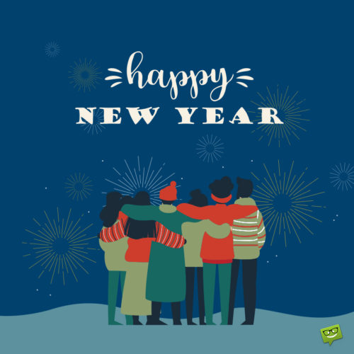 Happy New Year image for friends.
