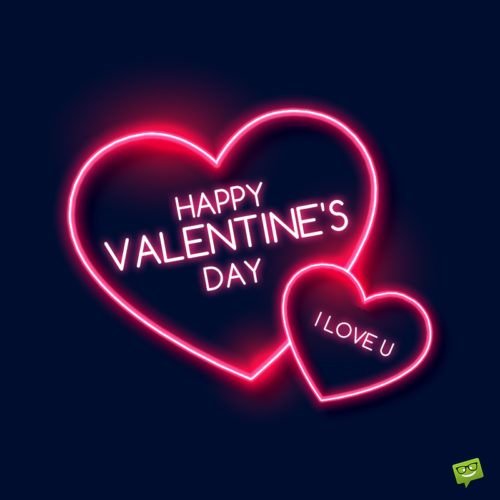 Valentine's day image for message to love.