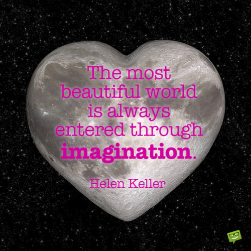 Imagination quote by Helen Keller to inspire you.