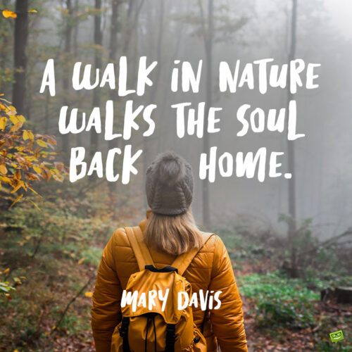 Hiking quote to note and share.