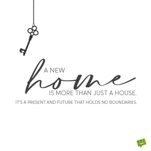 Inspirational housewarming wish on image for easy sharing on chats, messages, emails and social media.