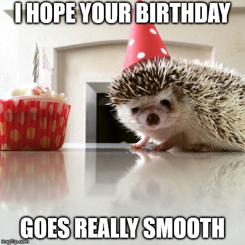 I hope your birthday goes really smooth.