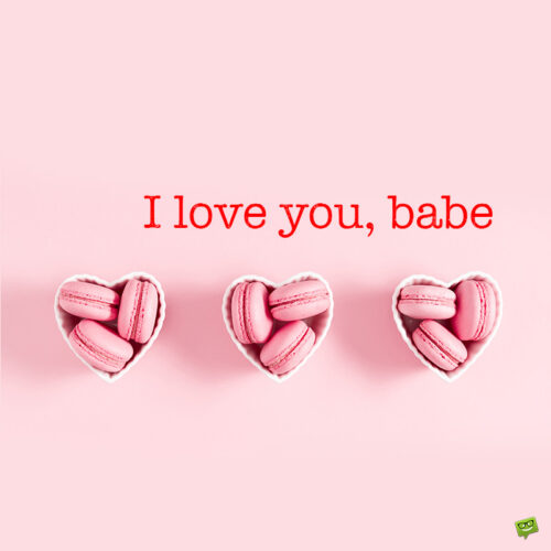 I love you message for her.