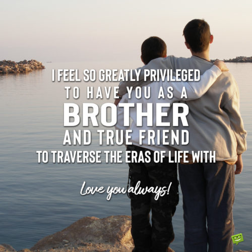 I love you message for brother on image.