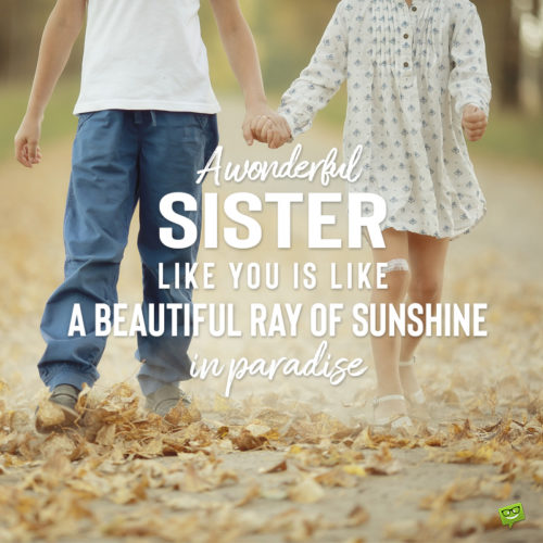 I love you message for sister on photo for easy sharing.