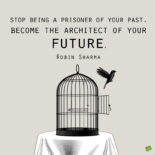 Letting go of the past quote to note and share.