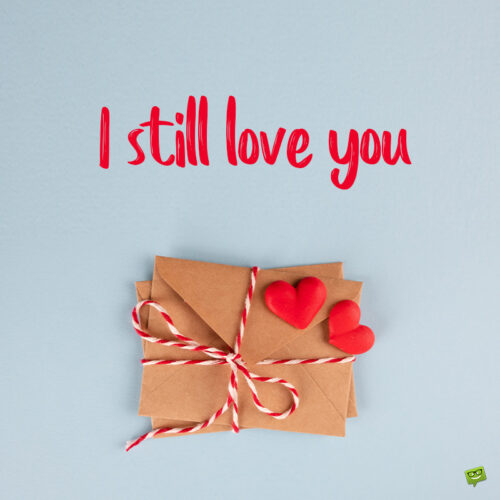 """""""I love you"""" message"""