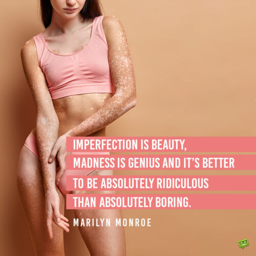 Marilyn Monroe quote to promote self confidence and self love.