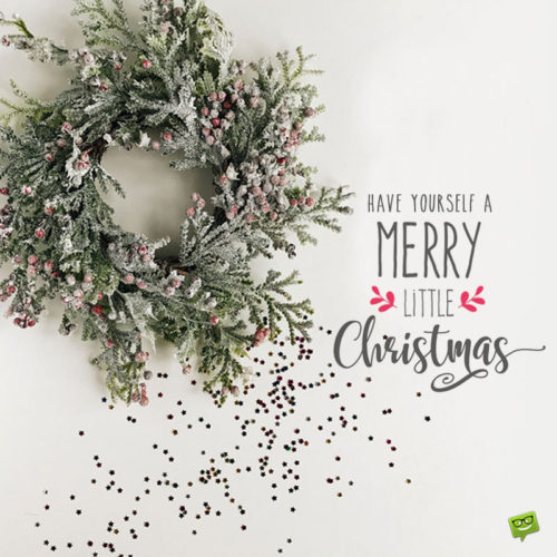 Merry Christmas picture for chats and social media.