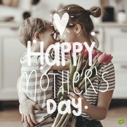 Happy Mother's Day Wish on image of mother and child.