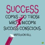 Napoleon Hill quote to note and share.