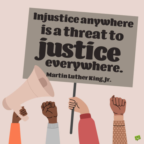 Justice quote by Mlk to note and share.