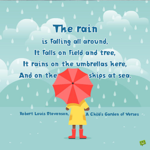 Rain quote to make you smile.