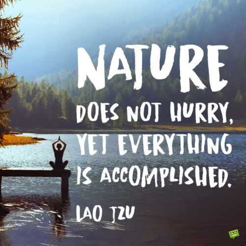 Relax quote about nature to note and share.