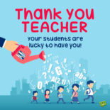 Thank you note for teacher.