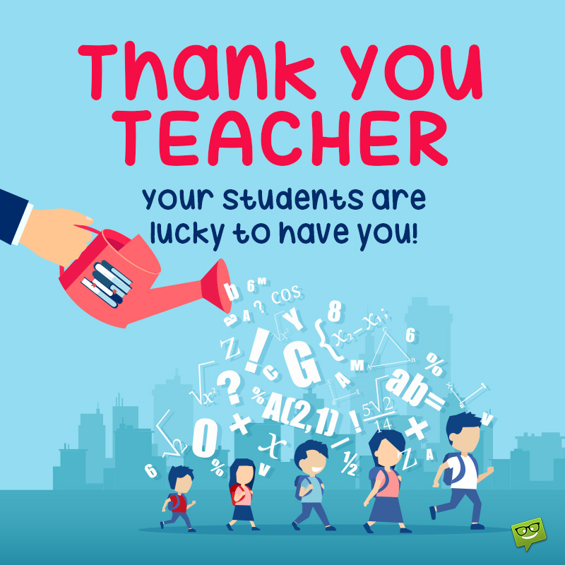 Thank You Notes For Teachers And School Staff To Share