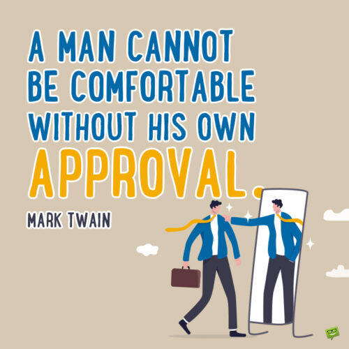 Mark Twain self worth quote to note and share.