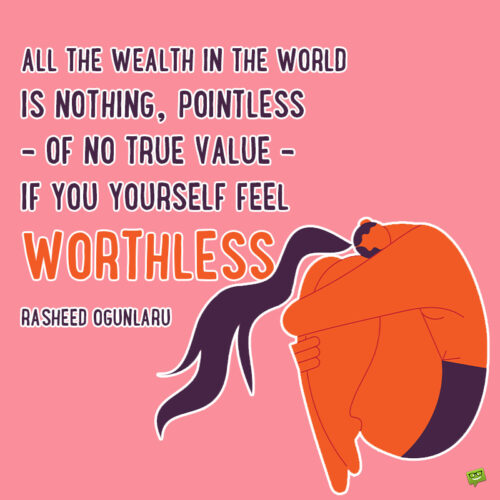 Self worth quote to note and share.