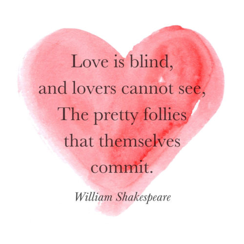 Cute love quote by William Shakespeare to use on messages and posts.