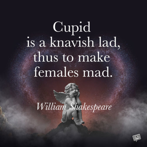 Shakespeare love quote for your posts and messages.