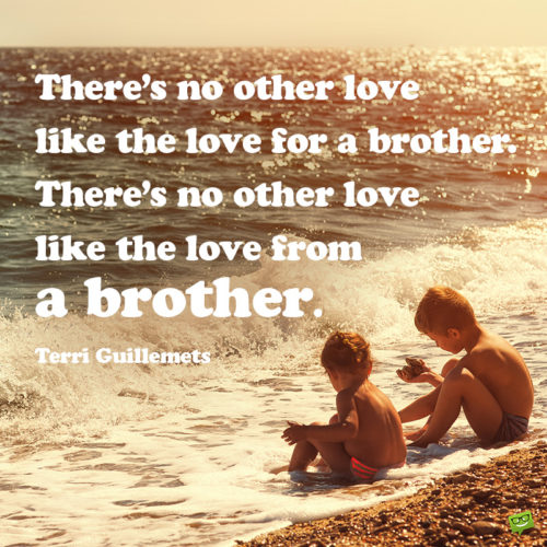 Beautiful siblings quote to inspire you.