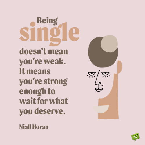 Being single quote to make you think.