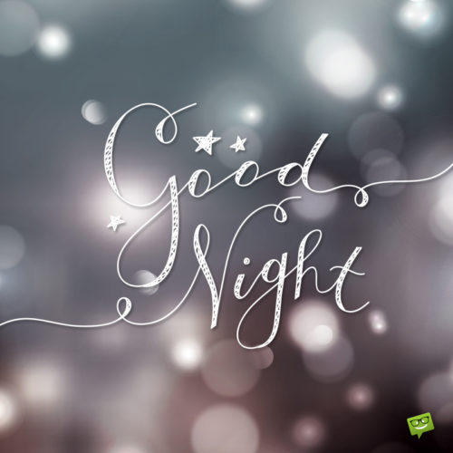 Good night image for chats and messages.