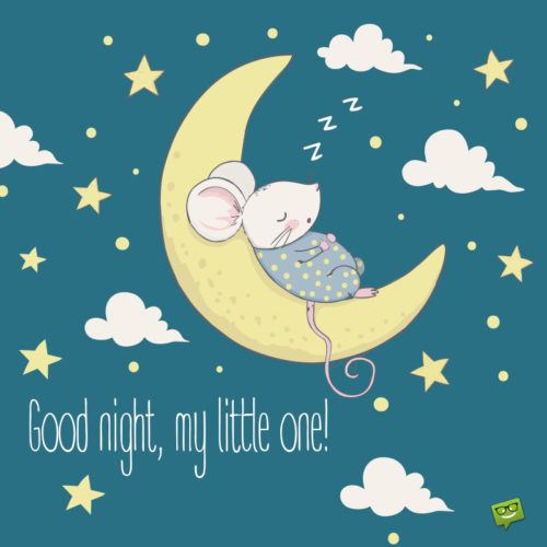 Good night image for messages.