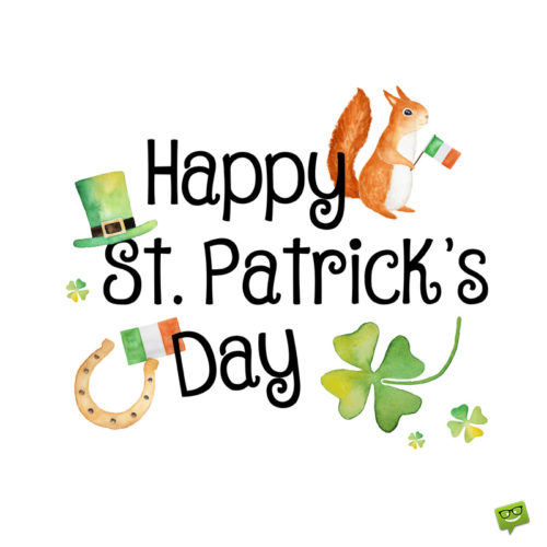 St. Patrick's day image for social media and messages.