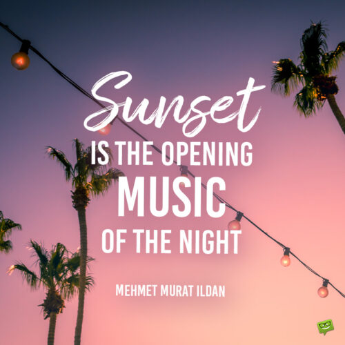 Quote to use as sunset caption.