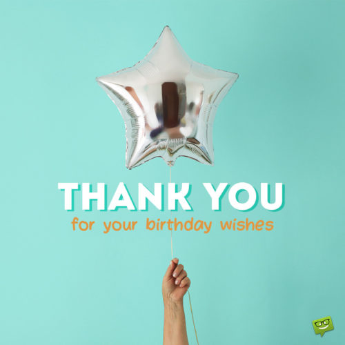 Thank you image to help you say thank you for birthday wishes on social media or a message.