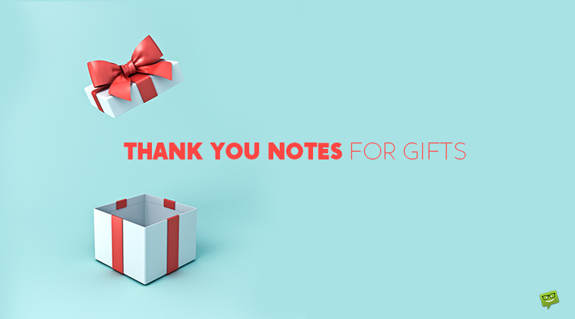 25 Thank You Notes for Beautiful and Unexpected Gifts
