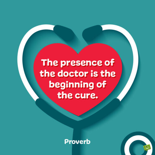 Thank you quote for doctors to note and share.