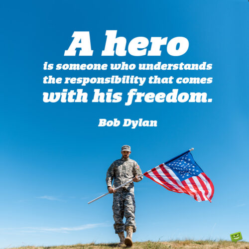 Thank you quote for Veterans to note and share.