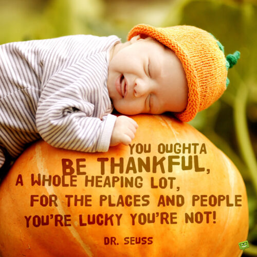 Dr. Seuss Thanksgiving day quote to make you smile.